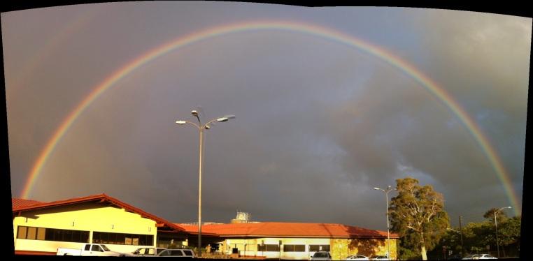 Kauai County Building Rainbow